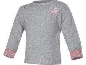 Mikina smyk dívčí Outlast® - šedý melír/růžová