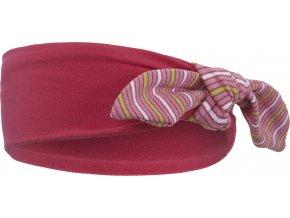 Čelenka smyk Outlast® - sytě růžová/pruh stř.růžový úzký