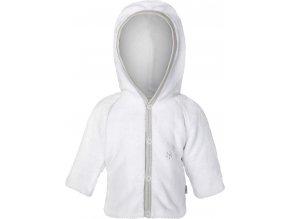 Kabátek MAZLÍK Outlast® - bílá/sv.šedá