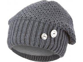 Čepice pletená baret Outlast ® - tm.šedá
