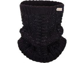 Nákrčník pletený copánek Outlast ® - černá lesk
