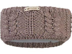Čelenka pletená copánek Outlast ® - kašmír lesk