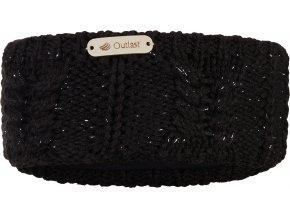 Čelenka pletená copánek Outlast ® - černá lesk
