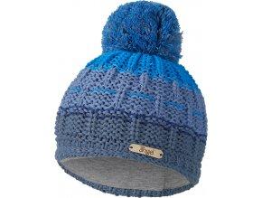 Čepice pletená duha s bambulí Outlast ® - modrá