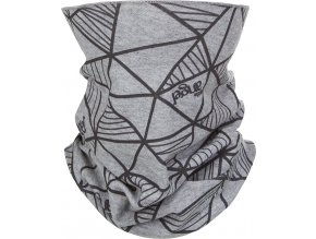 Nákrčník dětský tenký POTISK Outlast® - šedý melír