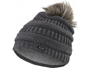 Čepice pletená 3D pruhy Outlast ® - tm.šedá