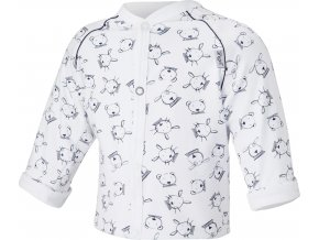 Kabátek podšitý Outlast® - bílá tm.modrá zvířátka/bílá