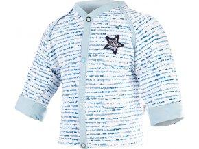 Kabátek podšitý Outlast® - modrý proužek/sv.modrá