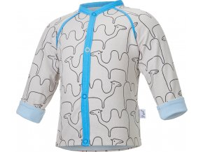 Kabátek podšitý BIO Outlast® - béžová velbloud/sv.modrá