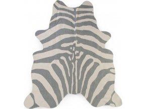 Childhome Koberec Zebra šedý 145x160 cm
