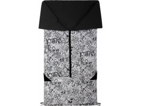 Fusak 2v1 BARY bavlna grafity + černá