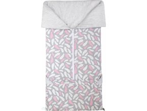 Fusak 2v1 BARY bavlna pírka růžová + šedý melanž