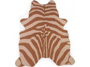 Childhome Koberec Zebra hnědý 145x160 cm