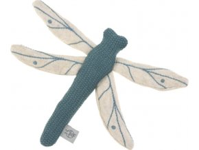 Lässig 4babies Knitted Toy with Rattle/Crackle Garden Explorer Dragonfly blue