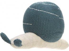 Lässig 4babies Knitted Toy with Rattle Garden Explorer snail blue