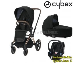 Cybex Priam Rosegold 2020 Deep Black