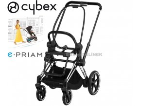 chrome black CYBEX e Priam.