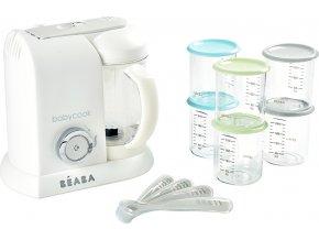 Beaba Parní vařič + mixér BABYCOOK White Silver limitovaná edice