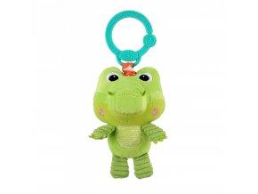 Bright Starts Hračka plyšová na C kroužku Take 'n Shake krokodýl 0m+