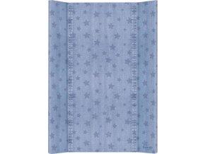 Ceba Podložka přebalovací 2-hranná MDF 70cm Denim Style Stars blue Ceba