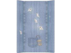 Ceba Podložka přebalovací 2-hranná MDF 70cm Denim Style Shabby blue Ceba