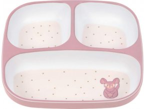 Lässig 4babies Plate Section Melamine/Silicone About Friends chinchilla