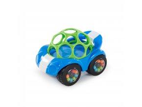 Oball Hračka autíčko Rattle & Roll Oball™ modro/zelené 3m+
