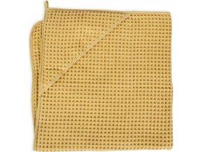 Ceba Osuška s kapucí Froté Waffle Line 100x100 Cream Gold Ceba