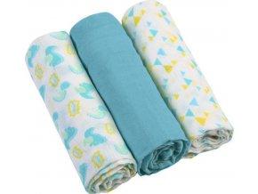 BabyOno Pleny mušelínové - Super soft 3ks - Modré