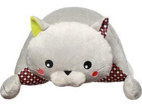 BabyOno Hračka polštářek C-MORE kočka Bruno 44x17cm