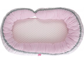 Motherhood Hnízdo pro miminko 2v1 Pink Classics 95x62cm