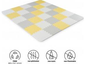 Kinderkraft Podložka pěnové puzzle Luno 150x180cm Yellow 30ks Kinderkraft 2020