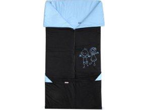 Fusak 2v1 BARY bavlna černá + modrá