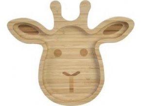 Bambusový talíř Žirafa