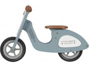 Little Dutch Odrážedlo Scooter dřevo Blue