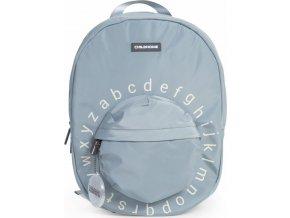 Childhome Dětský batoh Kids School Backpack Grey Off White