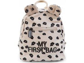 Childhome Dětský batoh My First Bag Canvas Leopard