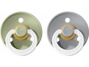 BIBS Colour Dudlíky z Přírodního kaučuku 2ks vel.3 (Barva Sage Noční / Cloud Noční)