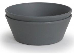 Mushie okrúhla miska 2 ks  (Barva Smoke)