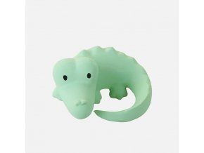 Tikiri Safari - hrkálka a hryzátko z prírodnej gumy Krokodíl 1ks