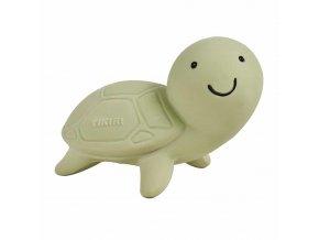 Tikiri Ocean Buddies - hrkálka a hryzátko z prírodnej gumy Korytnačka-1ks