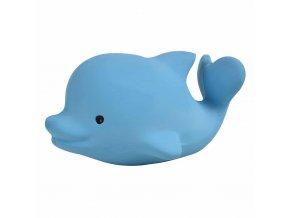 Tikiri Ocean Buddies - hrkálka a hryzátko z prírodnej gumy Delfín-1ks