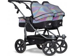 TFK Duo combi push chair - air chamber wheel glow in the dark