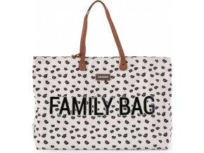 Childhome Cestovní taška Family Bag Canvas Leopard