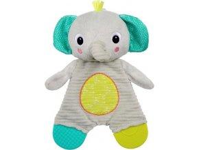 BRIGHT STARTS Hračka - kousátko Snuggle&Teethe slon 0m+