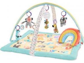 SKIPHOP Deka na hraní 5 hraček, polštářek ABC & ME 0m+