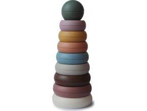 Mushie stohovacie krúžky (Barva Rustic)