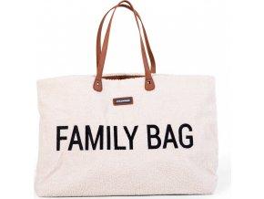 Childhome Cestovní taška Family Bag Teddy Off White