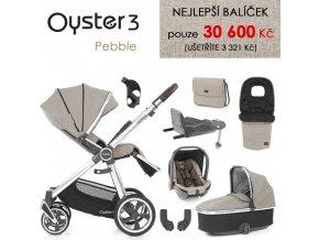 BabyStyle Oyster 3 nejlepší set 8 v 1 - 2021 (Barva Pebble)