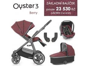 BabyStyle Oyster 3 základní set 4 v 1 - 2021 (Barva Berry)